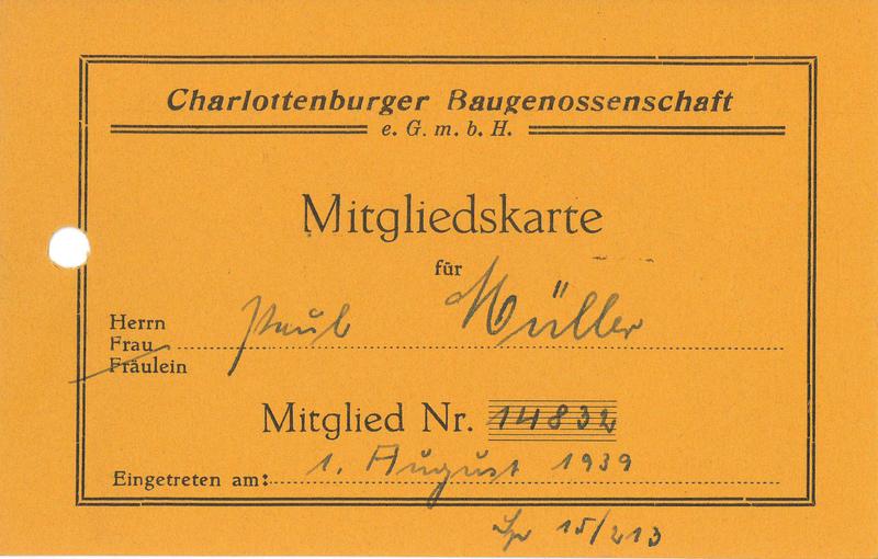 Lorenz Nonvaleurs Historische Wertpapiere Baugenossenschaften